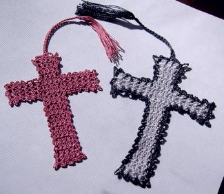 Crocheted crosses for a young mom and a grieving daughter